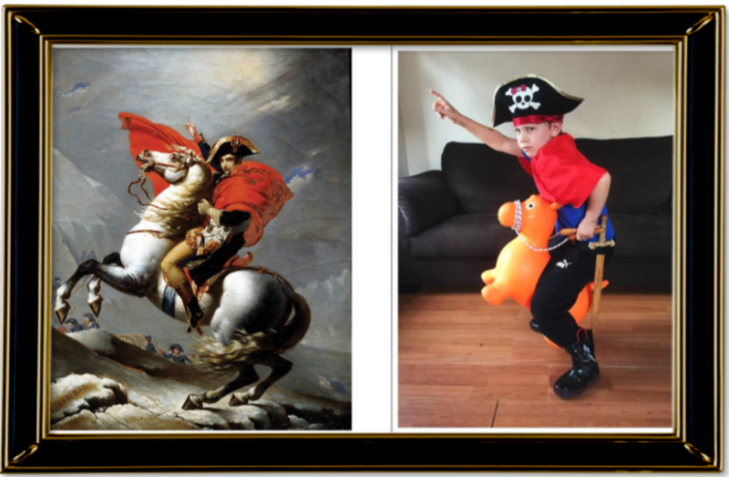 Napoleon Crossing the Alps by Jacques-Louis David 1805 (Year 3)