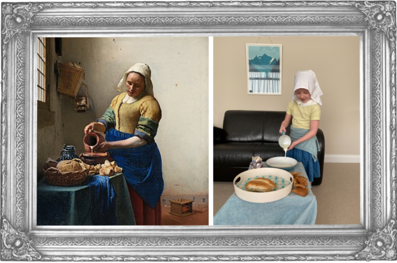 The Milkmaid Johannes Vermeer 1657 (Year 2)