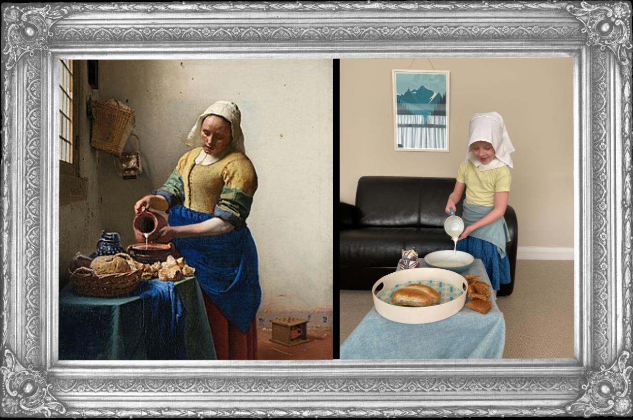The Milkmaid Johannes Vermeer 1657 (Year 2)
