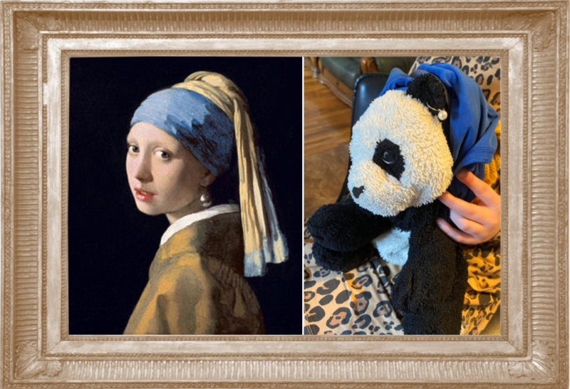 Girl With A Pearl Earring by Johannes Vermeer 1665 (Year 4)
