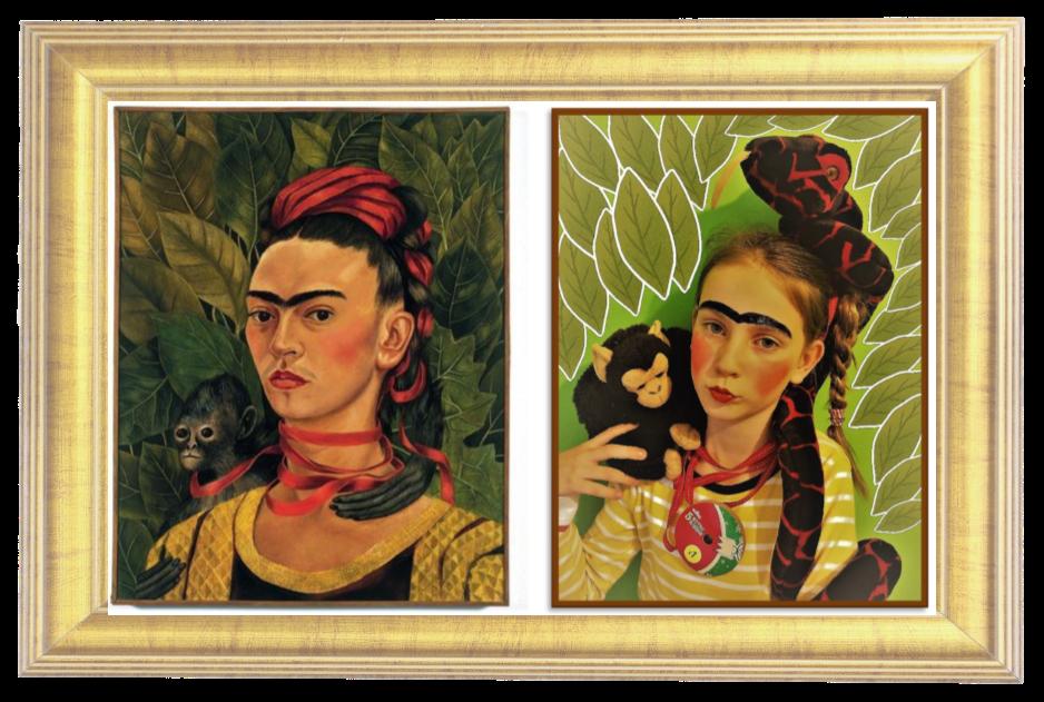 Self Portrait with Monkey, 1940 by Frida Kahlo (Year 5)