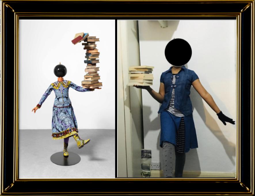 Girl Balancing Knowledge, Yinka Shonibare 2015, (Year 6)