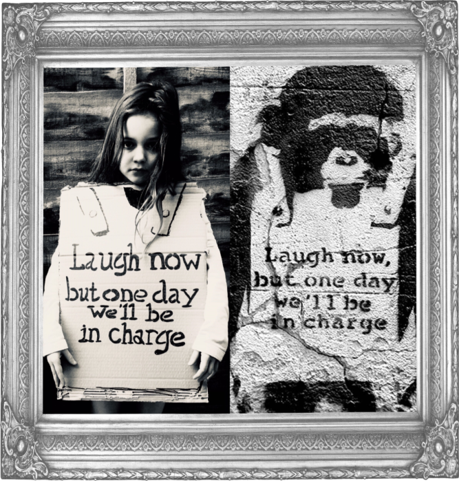 Laugh Now Banksy 2003 (Year 3)