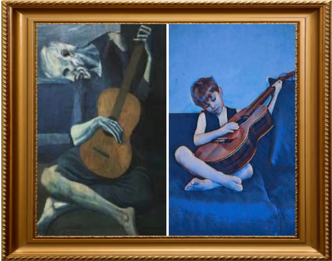 The Old Guitarist Pablo Picasso (Year 3)