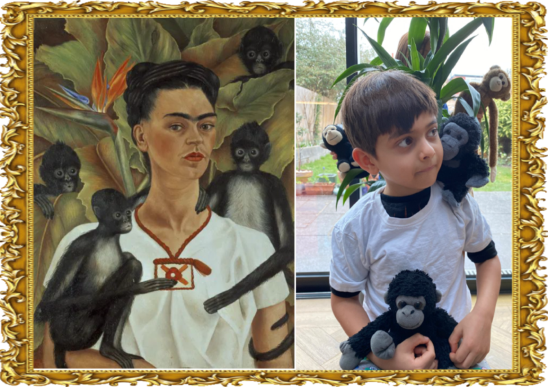 Self Portrait with Monkeys 1943 (Reception)