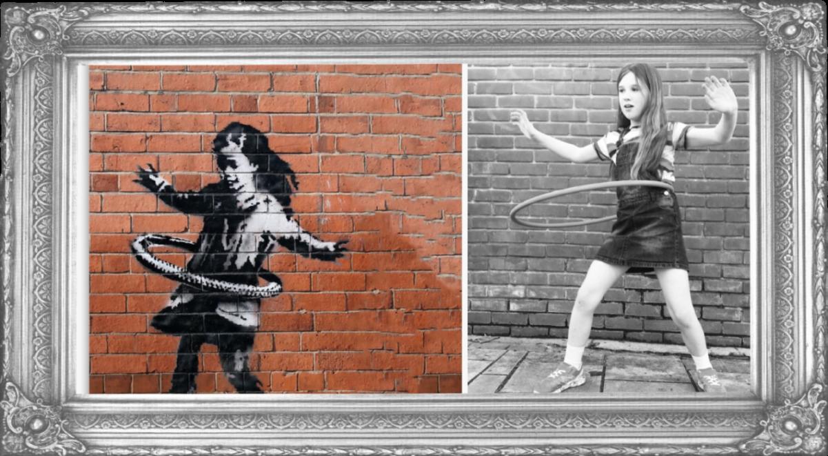 Hula Hoop Girl by Banksy 2020 (Year 4)