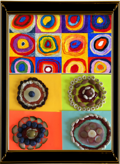 Color Study Squares with Concentric Circles by Kadinsky 1913 (Year 4)