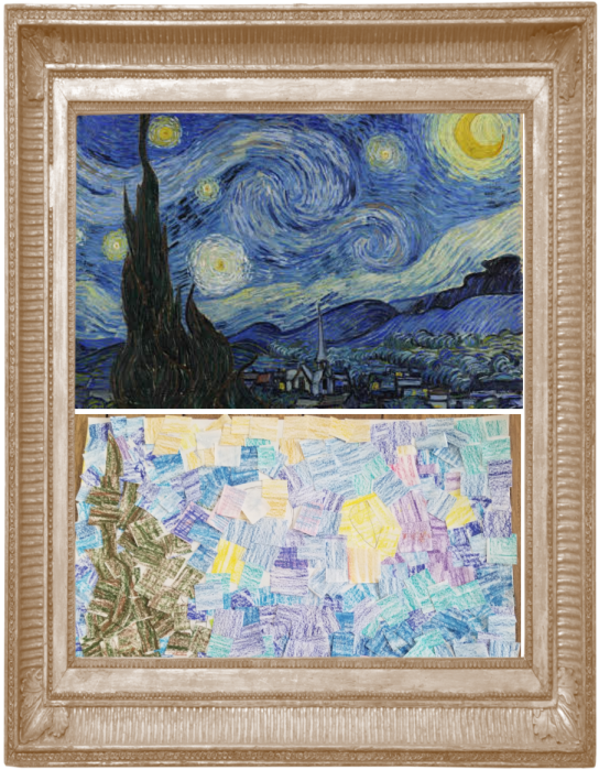 Starry Night by Vincent Van Gogh 1889 (Reecption)