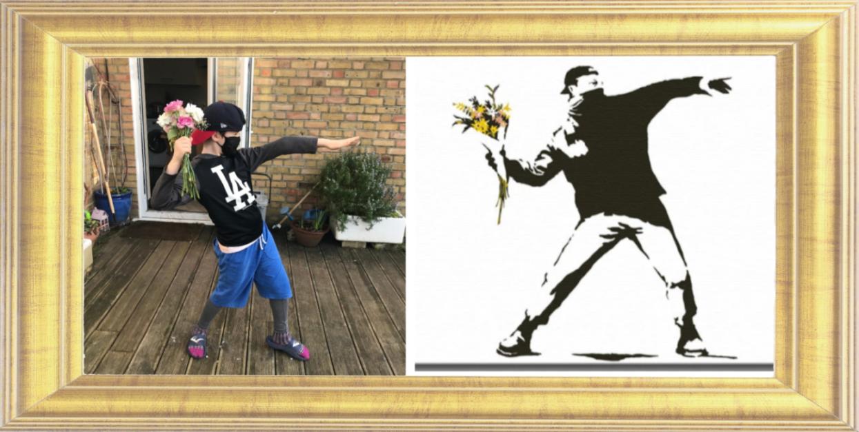 Flower Thrower by Banksy 2003
