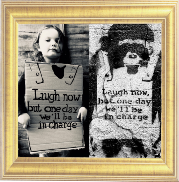 Laugh Now by Banksy 2002 (Reception)