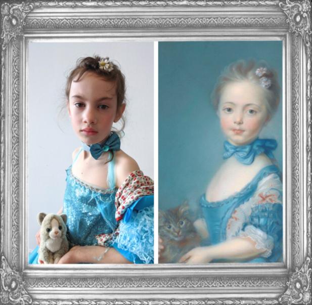 A Girl with A Kitten by Jean Baptiste-Perronneau 1715-16 (Year 2)